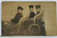 Louisville KY Men as Chauffeur in Automobile Studio Prop RPPC 1909  Postcard L4