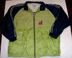 Cleveland Indians STARTER Lined Jacket 2XL Pale Green/Blue Chief Wahoo Full Zip