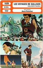 FICHE CINEMA : LES VOYAGES DE GULLIVER - Dave Fleischer 1939 Gulliver's Travels