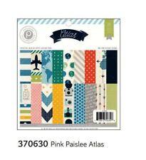 "American Crafts 6""x6"" Paper Pad  ~ PINK PAISLEE ~ ATLAS ~ 36ct  ~ 370630"