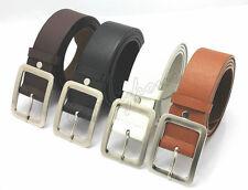 Leather Buckle Belt Casual Dress Men's Womens Jeans Waistband Waist Strap