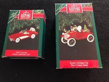 Hallmark Ornaments 1991 Collectors (1) 1957 Corvette  # 1   (1)  Santa's Car #13