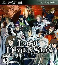 Lost Dimension Sony PlayStation 3 PS3 COMPLETE Game+Case+Manual