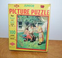 Vintage JUNIOR PICTURE JIGSAW PUZZLE Growing Pains Warren Built Rite No. 100