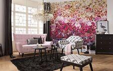 Murale Parete Photo carta da parati intenso bouquet di fiori arredamento soggiorno 368x254cm