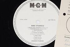 Charlie Parker-Bird Symbols-LP 1963 MGM PROMO archivio-copy MINT