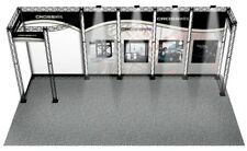 TRADE SHOW BOOTH DISPLAY CUSTOM 10' x 20' POP OUT BANNER STAND INLINE CROSSWIRE