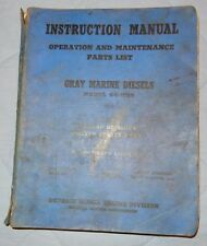 1944 United States Navy Gray Marine Diesels Instruction Manual Ships 64-HN9