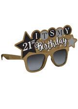 Add Any Age Gold Birthday Fun Sunglasses