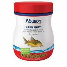 AQUEON SHRIMP PELLETS FOOD 3.25 OZ FOR TROPICAL GOLDFISH LOACHES CATFISH BOTTOM