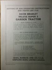 David Bradley Sears 917575104 Garden Tractor Amp Plow Owners Amp Parts 2 Manuals