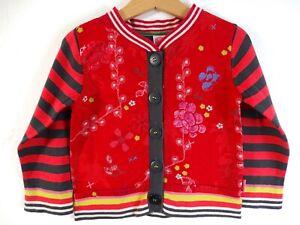 Cakewalk Designer Girls Red Floral Cotton Cardigan Age 2-3 Size 3