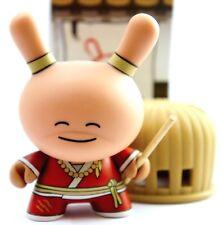 "Kidrobot Dunny 3"" Gold LIfe Series Huck Gee Wayward Monk Ninja Vinyl Art Toy"