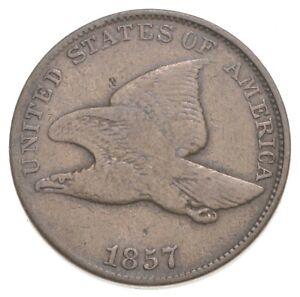 CRISP - 1857 - Flying Eagle United States Cent - RARE *018