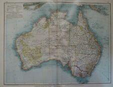Landkarte von Australien, Victoria, Queensland, Velhagen & Klasing 1900