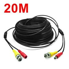 20m meters CCTV Security DVR Camera Phono RCA Video AV DC Power Cable Lead