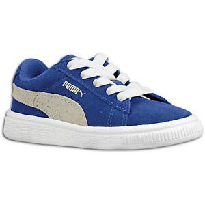PUMA Toddlers Suede Classic Kids Blue Grey Pink Sneakers Size 4-10