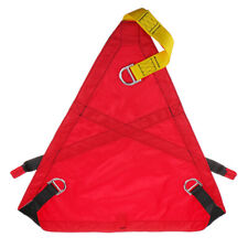 Rock Climbing Triangle Evacuation Sit Harness Rescue Safety Seat Belt, Red
