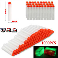 1000pcs toy Gun Glow Refill Foam Bullet Darts For Elite Series 7.2CM US