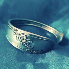 Antique silverware cuff bracelet handcrafted