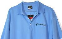 NWT Nike Golf Blue Dri-Fit Short Sleeve Polo Style Shirt Mens Size L  InfoSnap