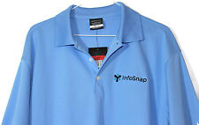 NWT Nike Golf Blue Dri-Fit Short Sleeve Polo Style Shirt Mens Size L  InfoSnap