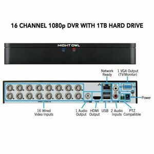 Night Owl 1080P  16 CH DVR w/ 1TB HDD DVR-C20X-161