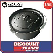 WILDTRAK CA1094 Cast Iron 8.5L 9 Quart Outdoor Camp Oven 31cm x 15.5cm