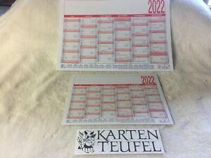Tafelkalender / Tischkalender 2022 in A5 & A4 Neu!