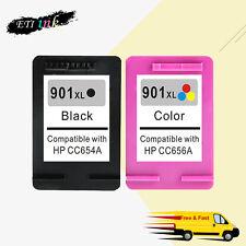 901XL Ink Ctg For HP 901 Officejet J4540 J4550 J4580 J4624 J4640 J4660 J4680 2PK
