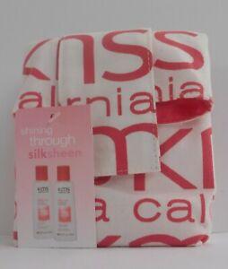 KMS California SILKSHEEN Shampoo / Conditioner Fabric Bag Travel Kit ~ 2.5 fl oz