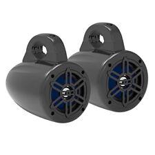 """Pyle Waterproof Marine Wakeboard Black 4"""" Tower Speakers w/ Tweeters (Pair)"""