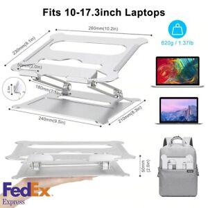 "17.3"" Adjustable Portable Ergonomic Aluminum Laptop Tablet Holder Riser Stand"