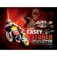 CASEY STONER SIGNED 2007 & 2011 MOTO GP WORLD CHAMPION LIMITED EDITION PRINT