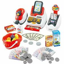 deAO Till Toy for Kids Pretend & Play Supermarket Cash Register Set with