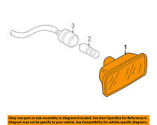 AUDI OEM 02-09 A4 Quattro Side Fender Turn Signal Light-Repeater 8E0949127
