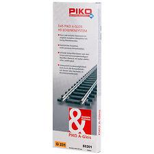 PIKO 55201 H0 Gerades Gleis 231 mm (6 Stück) ++ NEU & OVP ++