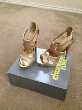 Gold Glitter Platform Pump Stiletto