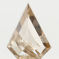 Natural Loose Diamond Antique Brown Color I1 Clarity 5.85 MM 0.37 Ct N7007