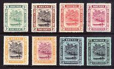 Brunei 1908 short set to 50c, fine mint £95