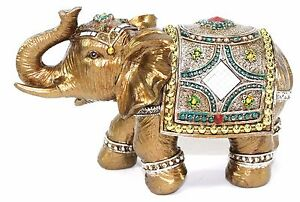 "Feng Shui 7"" Elegant Elephant Trunk Statue Lucky Figurine Gift & Home Decor"