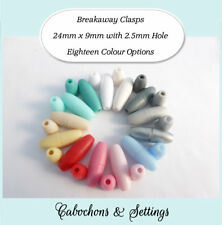 10 or 50 Sets Breakaway Clasps Safety for Necklace Lanyards 18 Colour Choices