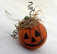 Halloween Pumpkin Dollhouse Mini Miniature Wooden Ball Barbie Doll Size OOAK