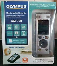 Grabadora de Voz Digital Olympus DM-770 con funda de transporte etc. - USB, 8GB-Nuevo Sellado