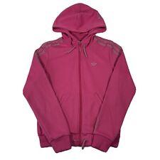Adidas Pink Long Sleeve Full Zip Up Silky Look Track Jacket - Womens 8