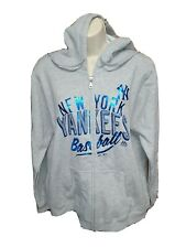 New York Yankees Baseball Womens Medium Gray Hoodie Sweatshirt