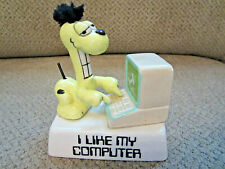 "New ListingVtg Garfields Odie '78-'83 Enesco labeled ceramic figurine ""I Like My Computer"""