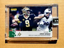 BREES SETS COMPLETION PERCENTAGE RECORD 9/10 Panini Instant Green Football Card