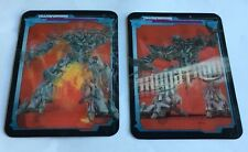 LOT OF 2 2007 Burger King Transformers Megatron Lenticular 3D Cards