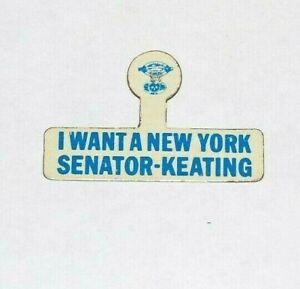 1964 SENATOR KENNETH KEATING NY SENATE RFK campaign TAB pin pinback political